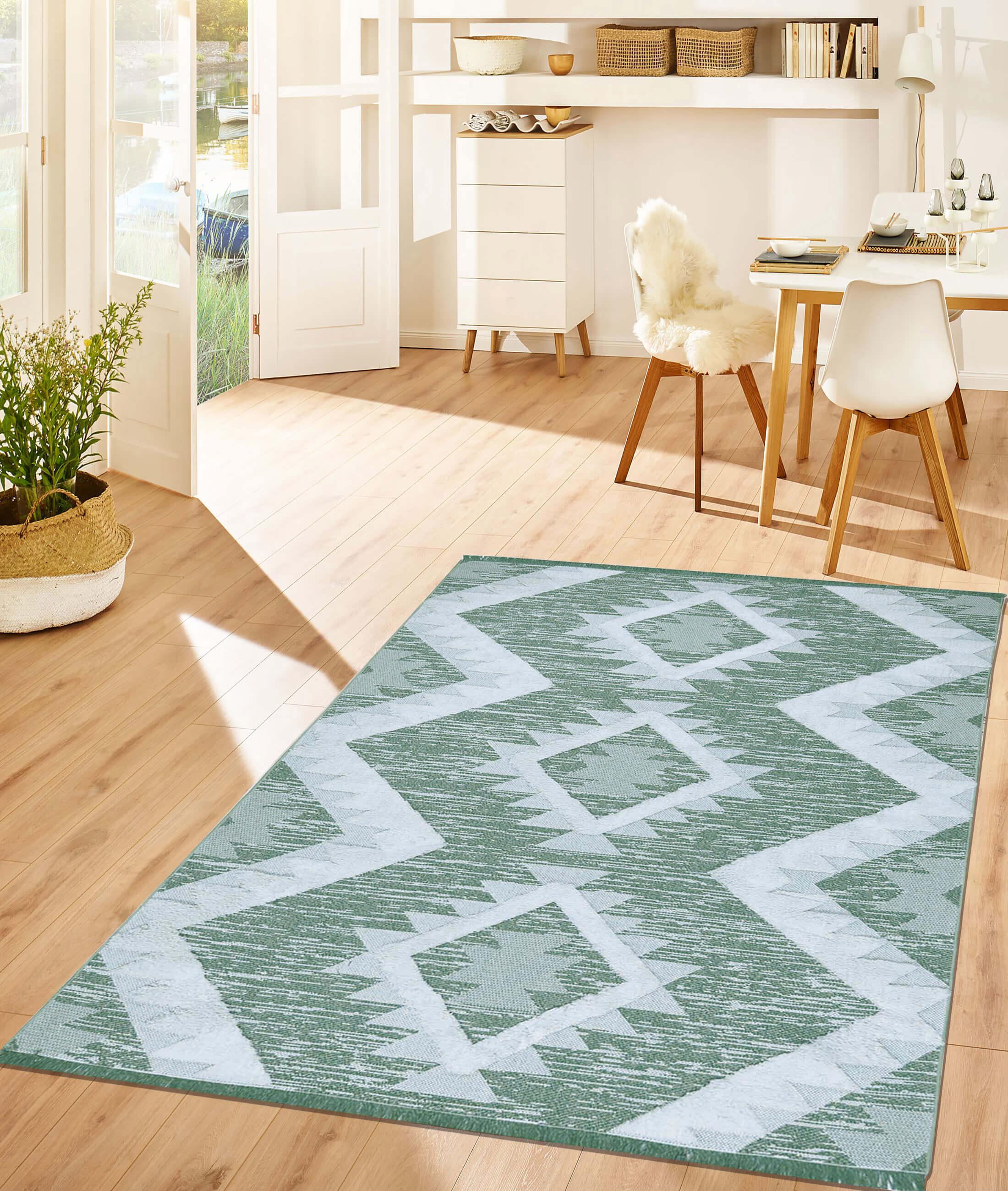 Moroccotton Green Carpet 22312A