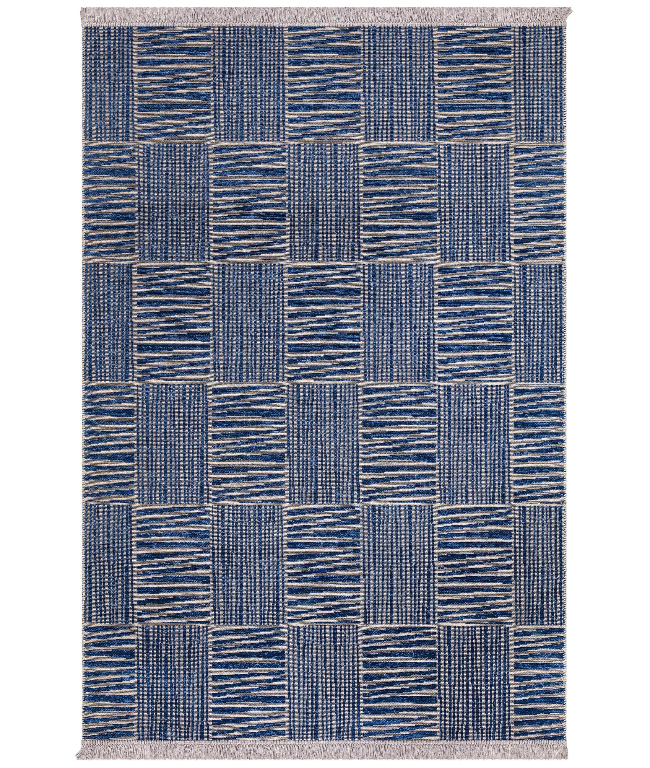 Rosso Navy Carpet 23043A