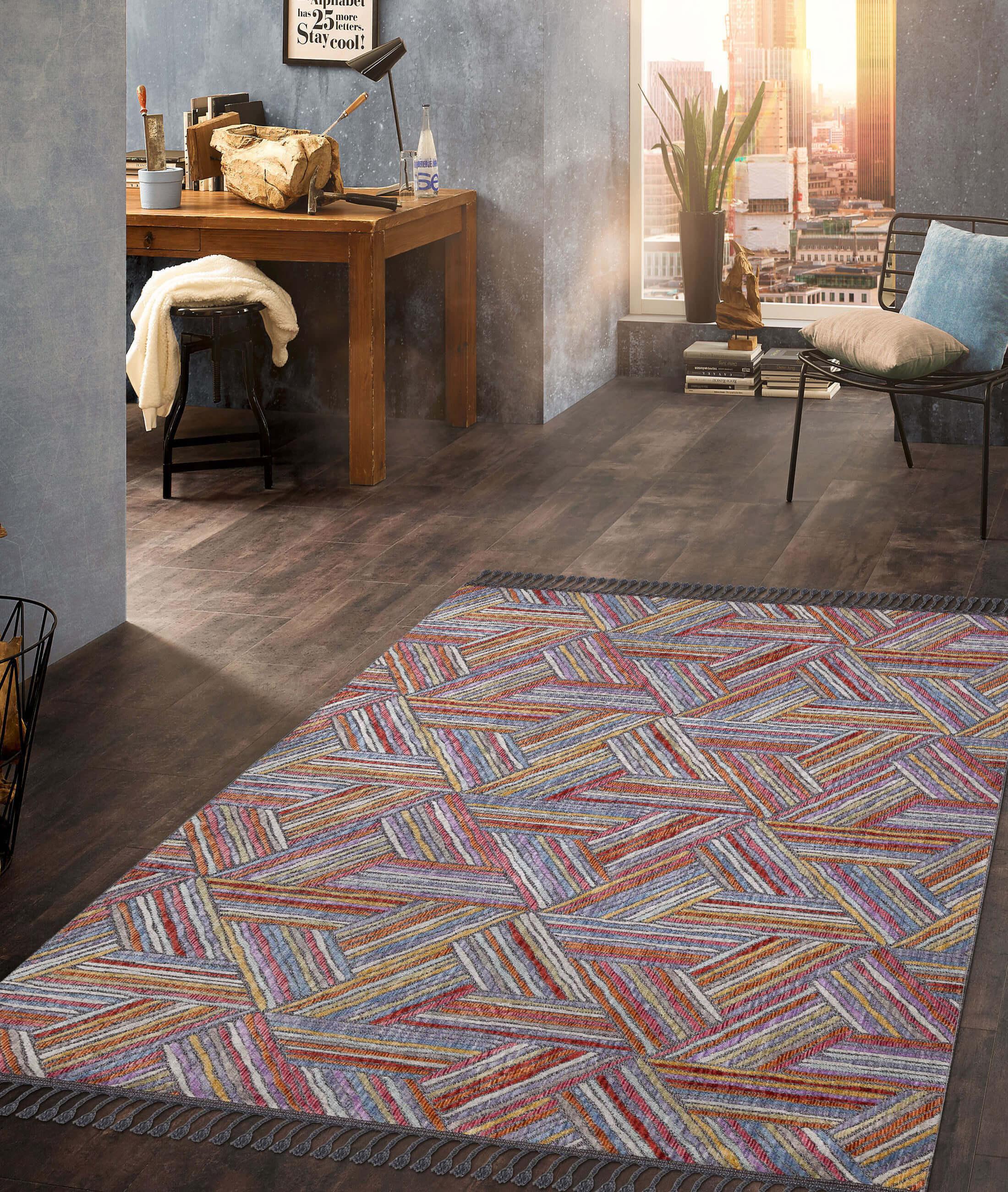 Retro Multicolor Carpet 30262A