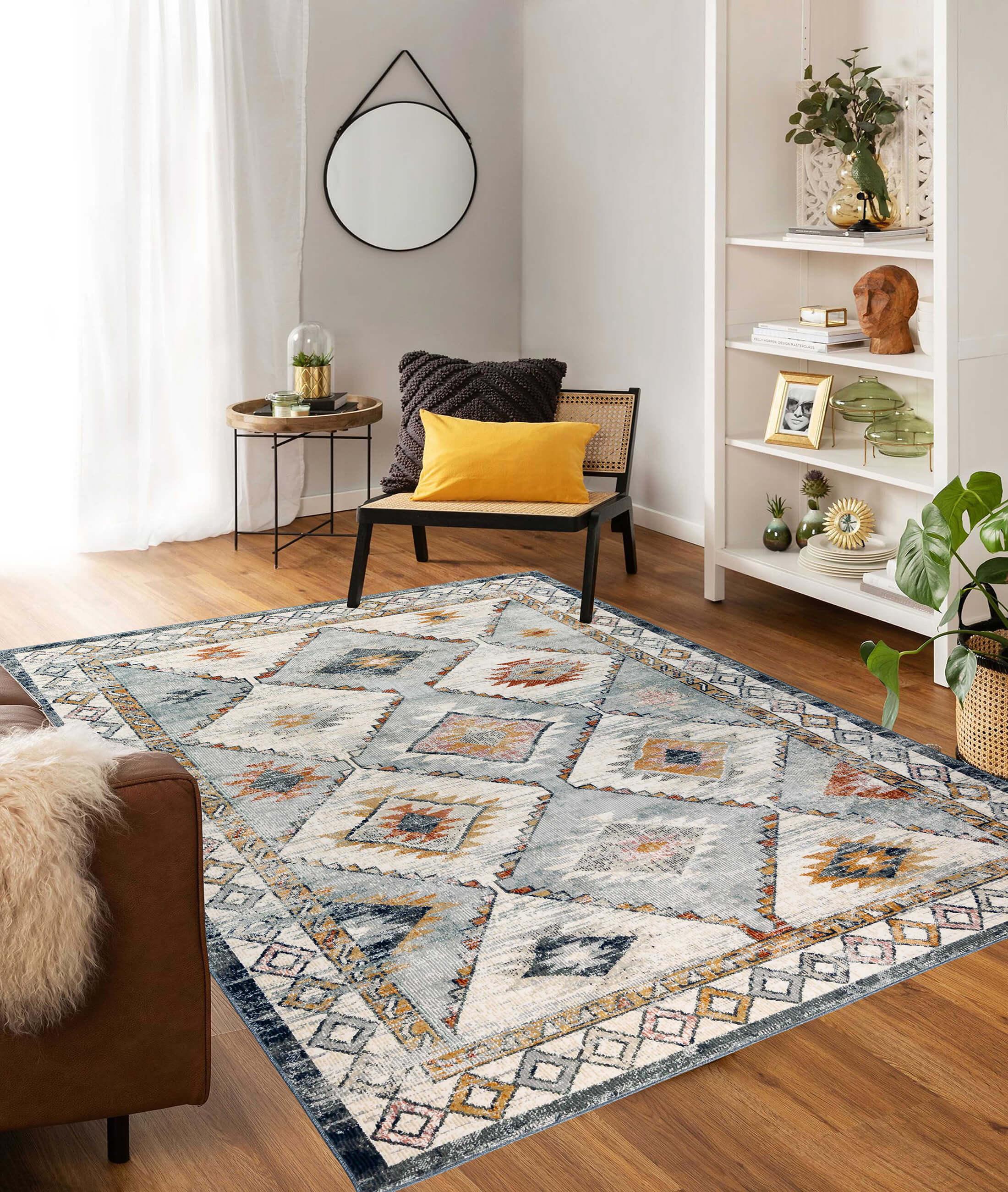 Bohemian Blue Carpet 38520A