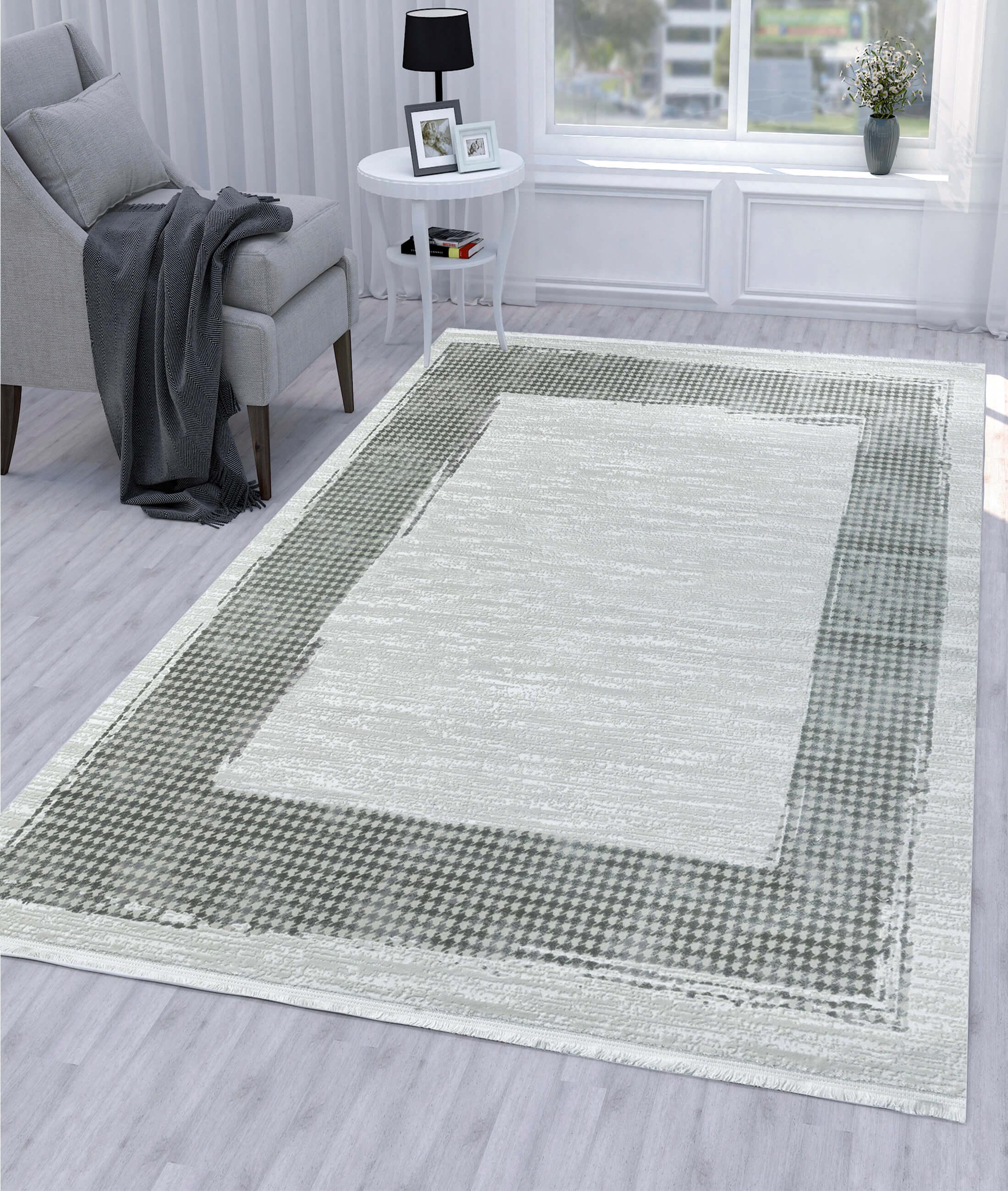 Çırağan Gray Carpet 45715B