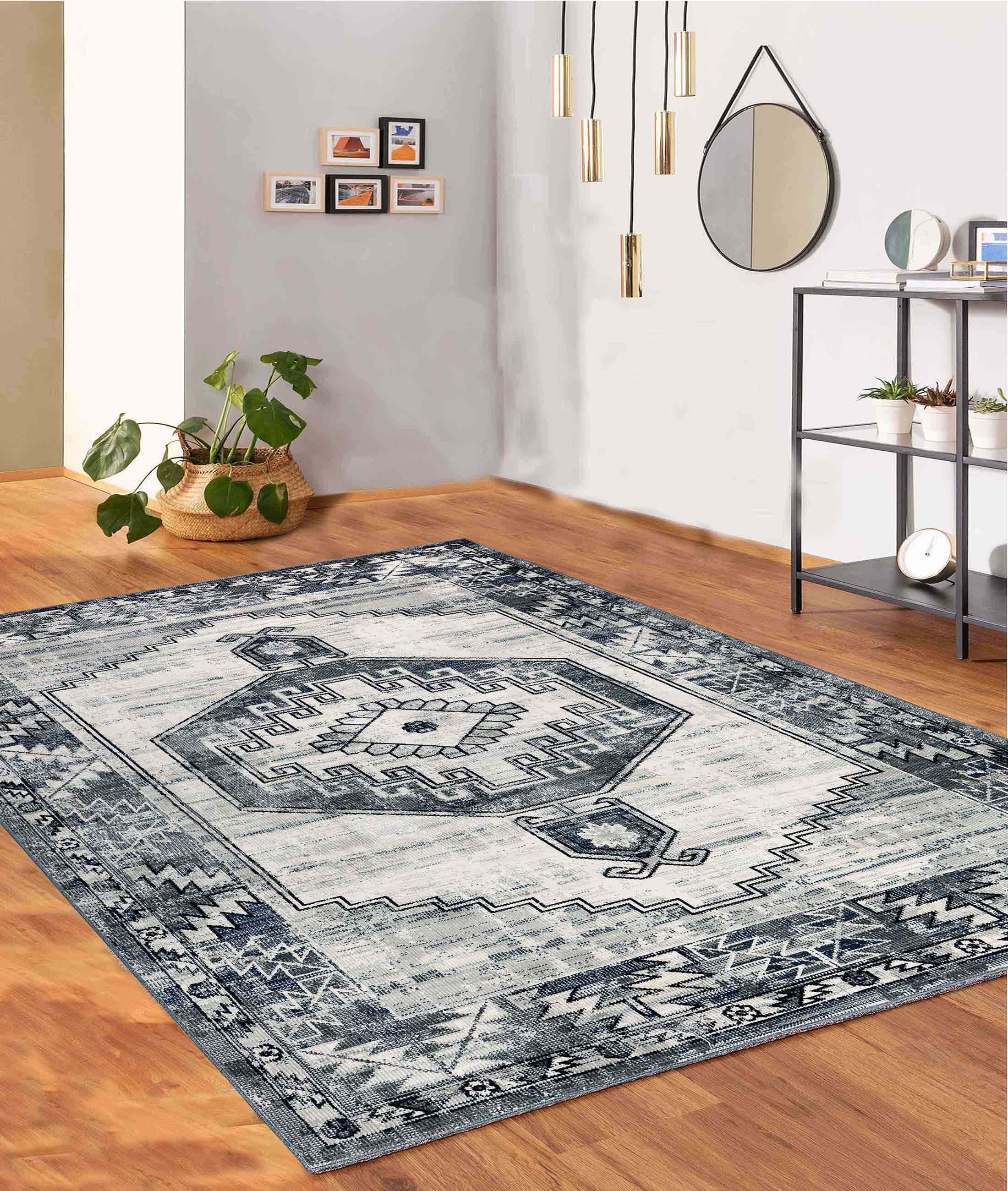 Bohemian Blue Carpet 65205A