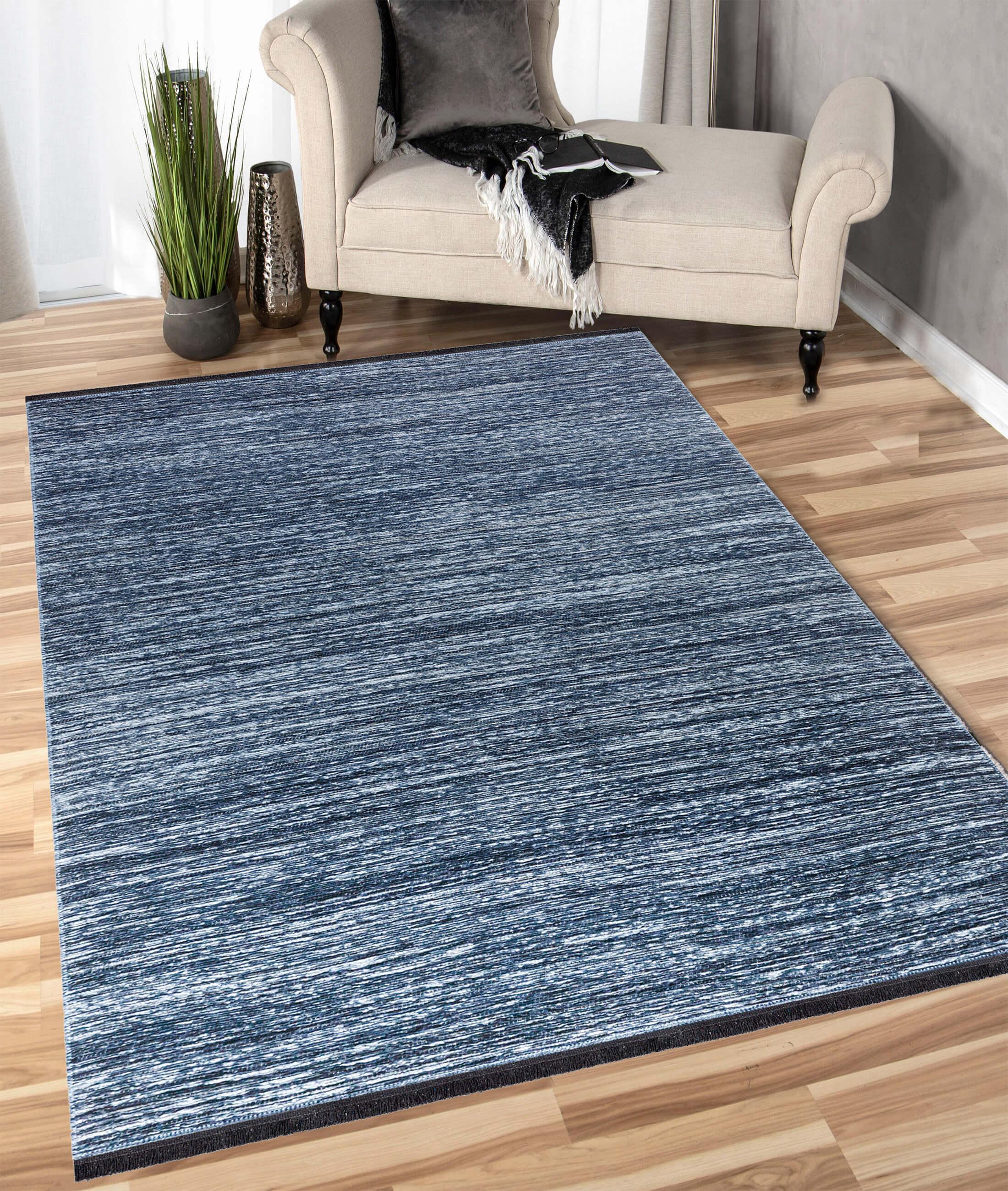 Zen Navy Carpet B5001A